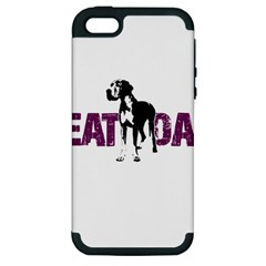 Great Dane Apple Iphone 5 Hardshell Case (pc+silicone) by Valentinaart