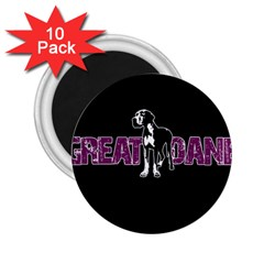 Great Dane 2 25  Magnets (10 Pack)  by Valentinaart