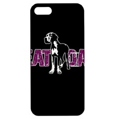 Great Dane Apple Iphone 5 Hardshell Case With Stand by Valentinaart
