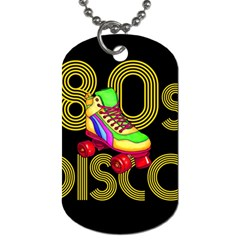 Roller Skater 80s Dog Tag (two Sides) by Valentinaart