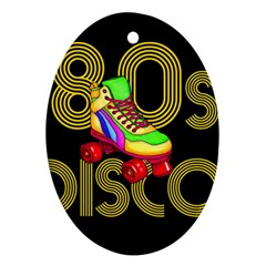 Roller Skater 80s Oval Ornament (two Sides) by Valentinaart