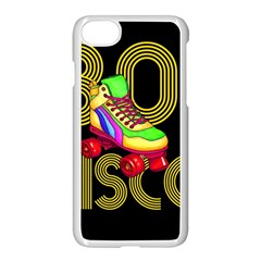 Roller Skater 80s Apple Iphone 7 Seamless Case (white) by Valentinaart