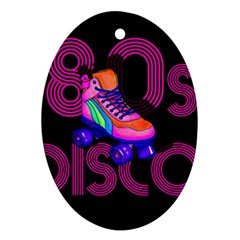 Roller Skater 80s Ornament (oval) by Valentinaart