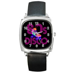 Roller Skater 80s Square Metal Watch by Valentinaart