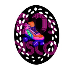 Roller Skater 80s Oval Filigree Ornament (two Sides) by Valentinaart