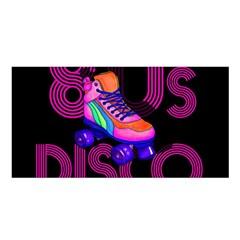 Roller Skater 80s Satin Shawl by Valentinaart
