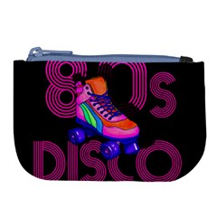 Roller Skater 80s Large Coin Purse by Valentinaart