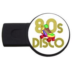 Roller Skater 80s Usb Flash Drive Round (2 Gb) by Valentinaart