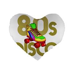 Roller Skater 80s Standard 16  Premium Heart Shape Cushions by Valentinaart