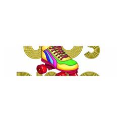 Roller Skater 80s Satin Scarf (oblong) by Valentinaart