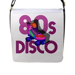 Roller Skater 80s Flap Messenger Bag (l)  by Valentinaart