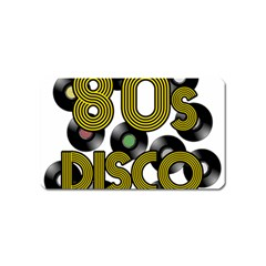 80s Disco Vinyl Records Magnet (name Card) by Valentinaart