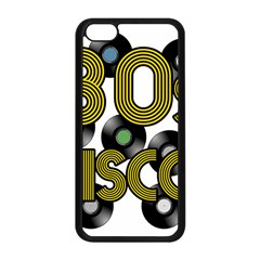 80s Disco Vinyl Records Apple Iphone 5c Seamless Case (black) by Valentinaart