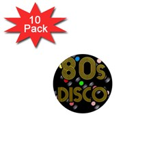80s Disco Vinyl Records 1  Mini Magnet (10 Pack)  by Valentinaart