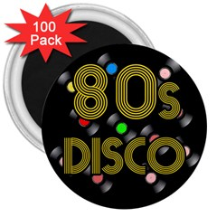 80s Disco Vinyl Records 3  Magnets (100 Pack) by Valentinaart