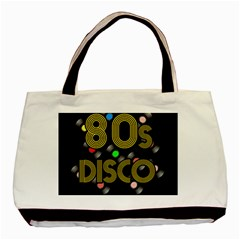 80s Disco Vinyl Records Basic Tote Bag (two Sides) by Valentinaart