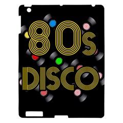 80s Disco Vinyl Records Apple Ipad 3/4 Hardshell Case by Valentinaart