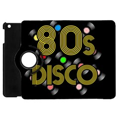 80s Disco Vinyl Records Apple Ipad Mini Flip 360 Case by Valentinaart