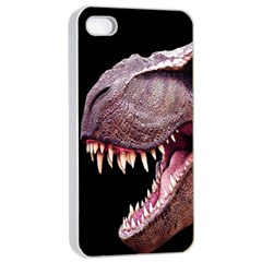 Dinosaurs T Rex Apple Iphone 4/4s Seamless Case (white) by Valentinaart