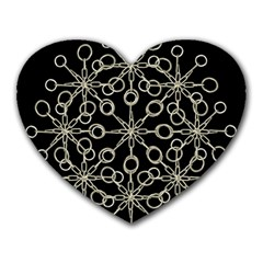 Ornate Chained Atrwork Heart Mousepads by dflcprints