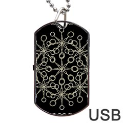 Ornate Chained Atrwork Dog Tag Usb Flash (two Sides) by dflcprints
