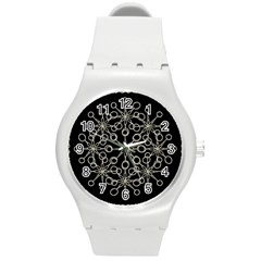 Ornate Chained Atrwork Round Plastic Sport Watch (m) by dflcprints