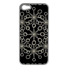 Ornate Chained Atrwork Apple Iphone 5 Case (silver) by dflcprints