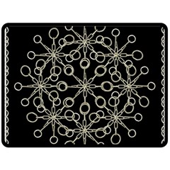 Ornate Chained Atrwork Double Sided Fleece Blanket (large)  by dflcprints