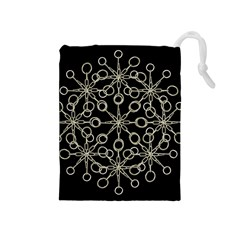 Ornate Chained Atrwork Drawstring Pouches (medium)  by dflcprints