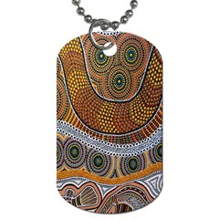 Aboriginal Traditional Pattern Dog Tag (two Sides) by Onesevenart