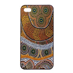 Aboriginal Traditional Pattern Apple Iphone 4/4s Seamless Case (black) by Onesevenart