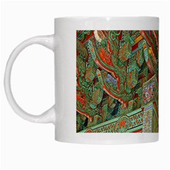 Traditional Korean Painted Paterns White Mugs by Onesevenart