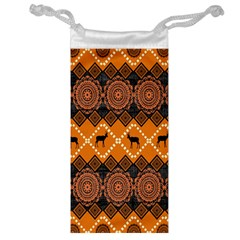 Traditiona  Patterns And African Patterns Jewelry Bag by Onesevenart