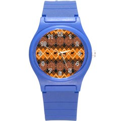 Traditiona  Patterns And African Patterns Round Plastic Sport Watch (s) by Onesevenart