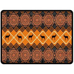 Traditiona  Patterns And African Patterns Double Sided Fleece Blanket (large)  by Onesevenart