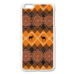 Traditiona  Patterns And African Patterns Apple Iphone 6 Plus/6s Plus Enamel White Case by Onesevenart