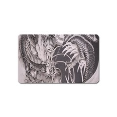 Chinese Dragon Tattoo Magnet (name Card) by Onesevenart