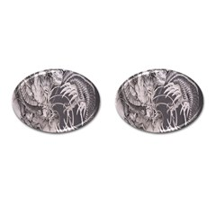 Chinese Dragon Tattoo Cufflinks (oval) by Onesevenart