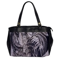 Chinese Dragon Tattoo Office Handbags by Onesevenart
