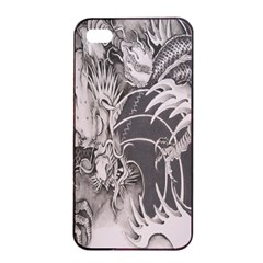 Chinese Dragon Tattoo Apple Iphone 4/4s Seamless Case (black) by Onesevenart