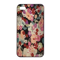 Japanese Ethnic Pattern Apple Iphone 4/4s Seamless Case (black) by Onesevenart