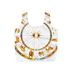 Zodiac  Institute Of Vedic Astrology Full Print Recycle Bags (s)  by Onesevenart