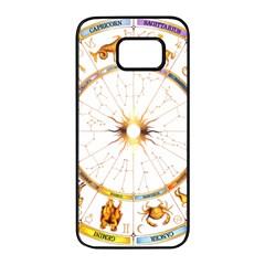 Zodiac  Institute Of Vedic Astrology Samsung Galaxy S7 Edge Black Seamless Case by Onesevenart