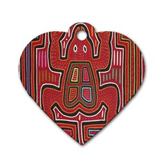 Frog Pattern Dog Tag Heart (one Side) by Onesevenart