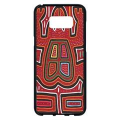 Frog Pattern Samsung Galaxy S8 Plus Black Seamless Case by Onesevenart