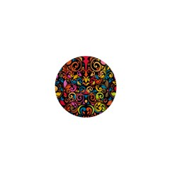 Art Traditional Pattern 1  Mini Magnets by Onesevenart
