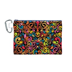 Art Traditional Pattern Canvas Cosmetic Bag (m) by Onesevenart