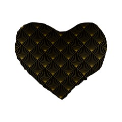 Abstract Stripes Pattern Standard 16  Premium Flano Heart Shape Cushions by Onesevenart