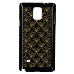 Abstract Stripes Pattern Samsung Galaxy Note 4 Case (black) by Onesevenart