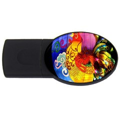 Chinese Zodiac Signs Usb Flash Drive Oval (4 Gb) by Onesevenart